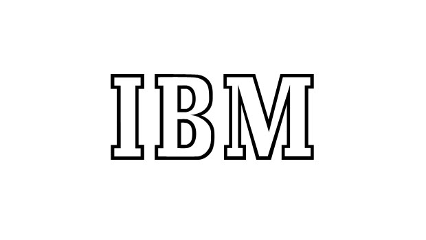 The first IBM text logo in the Beton Bold typeface