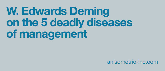 W. Edwards Deming on management